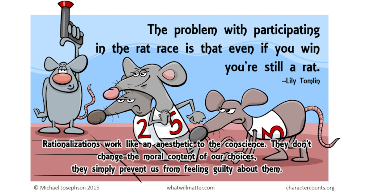Read more about the article Let's blame someone for our rat-race