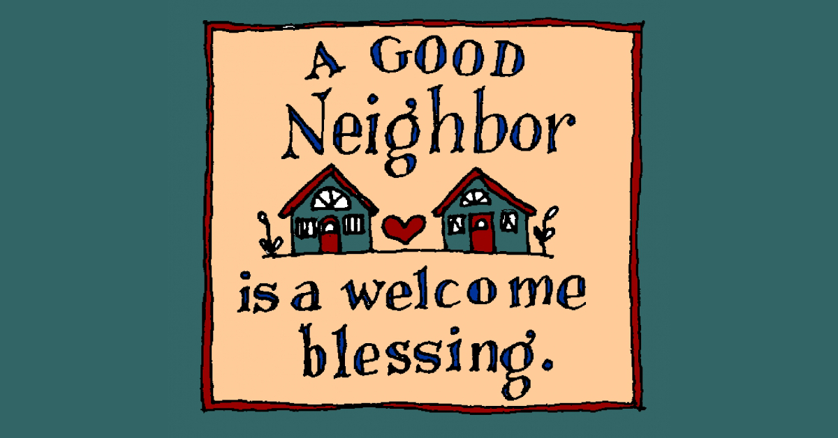 Thursday's with Lucy – neighbors